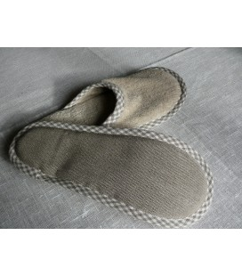 Natural linen slippers EXCLUSIVE