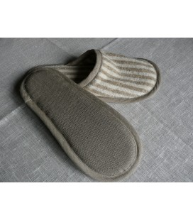 Striped linen slippers EXCLUSIVE