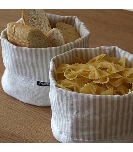 Basket JAZZ, white-beige