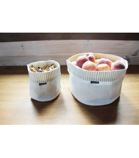 Basket JAZZ, white-beige