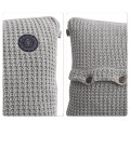 Moss knit cushion
